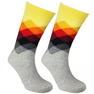 Grey Faded Diamond Sock – 95