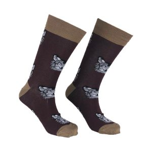 Brown Wolf Sock – 120