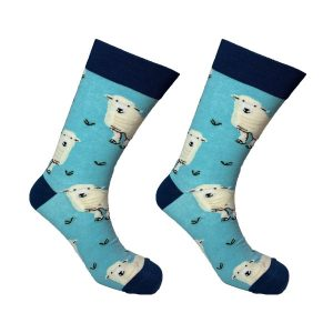 Blue Cow Sock 138
