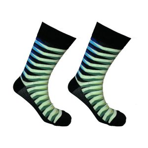 Zebra Green and Blue Sock 141