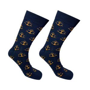 Navy Anchor Sock 145