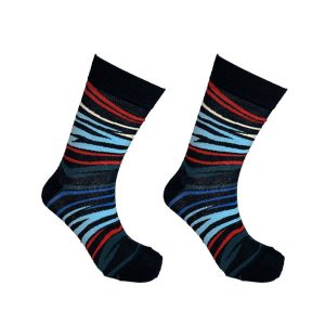 Zebra Blue Red and Black Sock 151